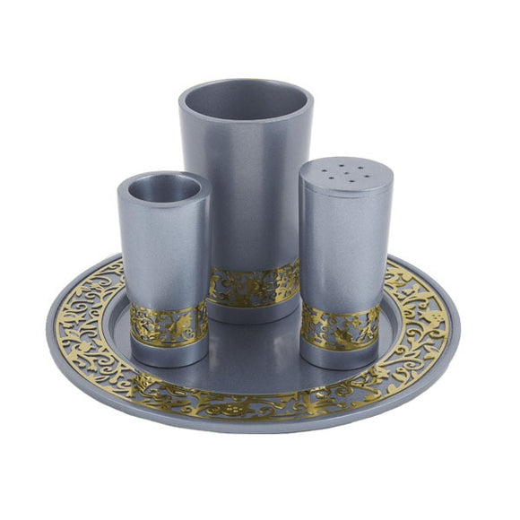 Havdallah Set & Metal Cutout - Silver