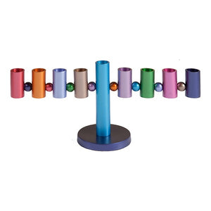 Hanukkah Menorah - Multicolored
