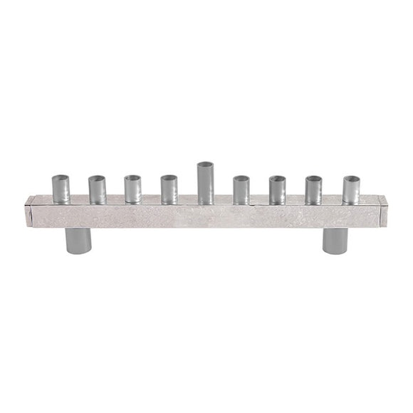 Hanukkah Menorah - Strip & Hammer Work - Aluminium