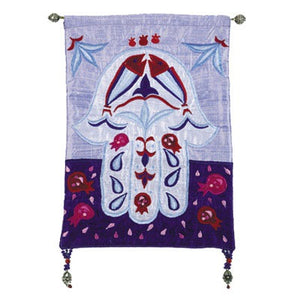 Small Wall Hanging Hamsa & Fish - Blue