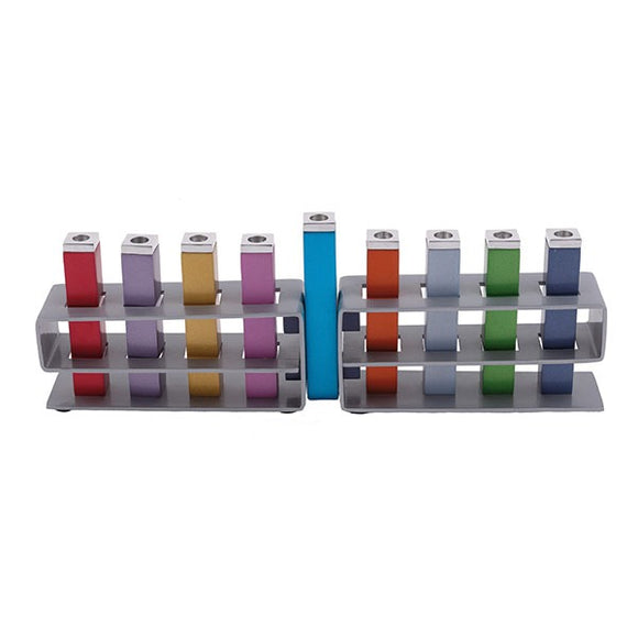 Hanukkah Menorah - Changeable Branches - Multicolored
