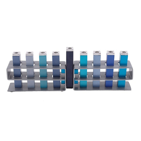 Hanukkah Menorah - Changeable Branches - Blue