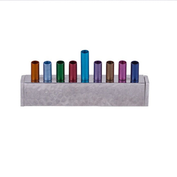 Small Hanukkah Menorah - Strip - Multicolored