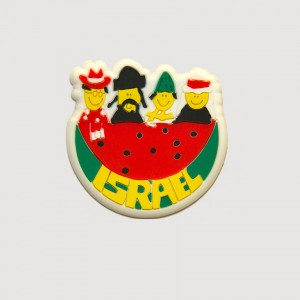 Israeli People Watermelon 3D Magnet