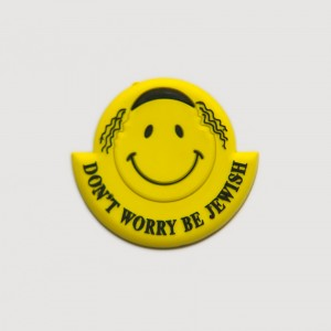 Don't Worry Be Jewish Hassid Smiley Magnet
