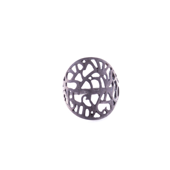Shema letters round stamp - Sterling Silver Ring