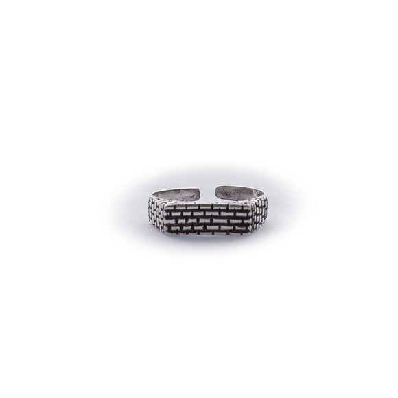 Kotel / Western Wall Adjustable Sterling Silver Ring