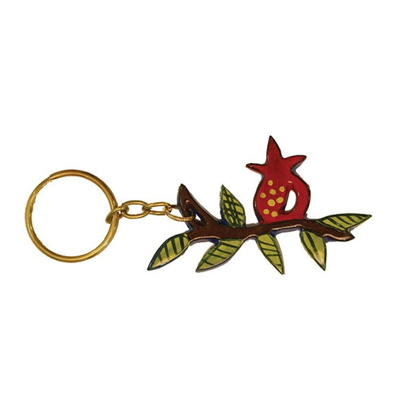 Key Chain Holder - Hand Painted - Pomegranate