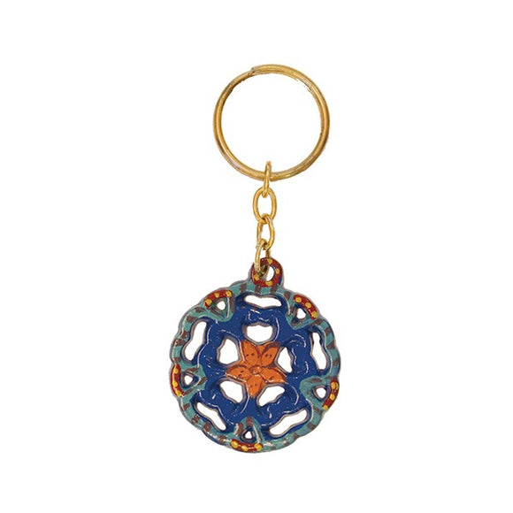 Key Chain Holder - Hand Painted - Flower