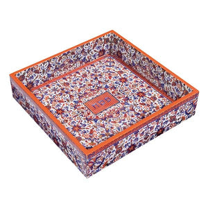Printed Wooden Matzah Tray - Multicolored