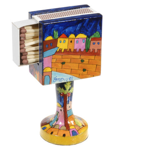 Matchbox Holder & Stand - Jerusalem