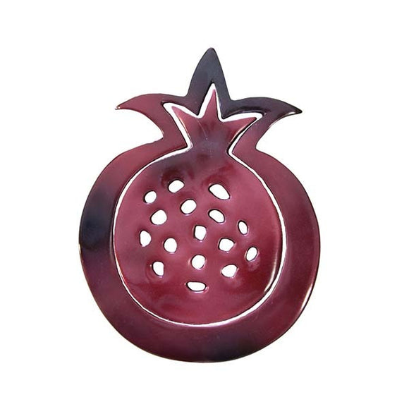 Trivet - Hand Painted - Two Pieces - Pomegranates