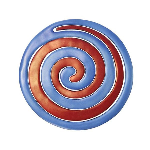 Trivet - Two Pieces - Spiral Red & Blue