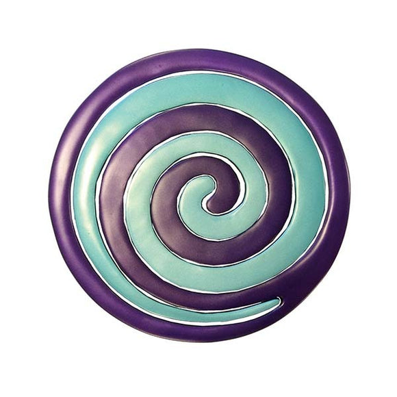 Trivet - Two Pieces - Spiral Purple & Green