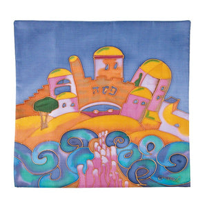 Matzah Cover - Hand Painted Silk - Style 1