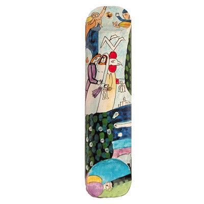 Large Wooden Mezuzah - 12 cm - Bride & Groom II