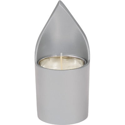 Memorial Candle Holder & Candle - Natural Aluminium