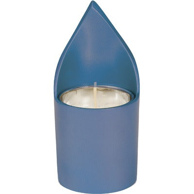 Memorial Candle Holder & Candle - Blue