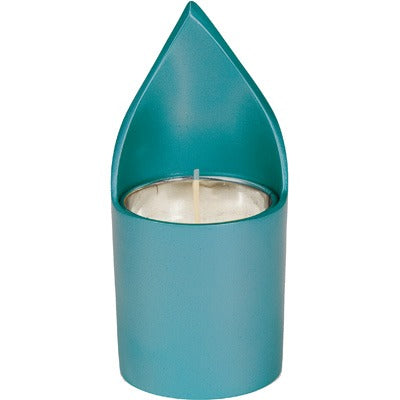 Memorial Candle Holder & Candle - Turquoise