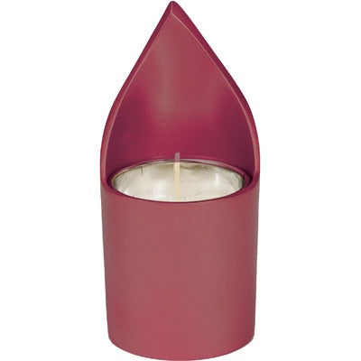 Memorial Candle Holder & Candle - Maroon