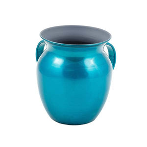 Small Netilat Yedayim Cup - Stainless Steel - Turquoise