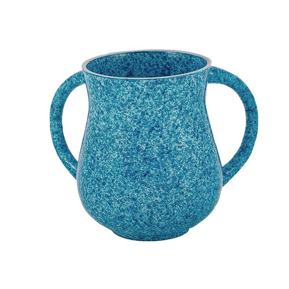 Netilat Yadayim Cup - Marble Coated - Light Blue