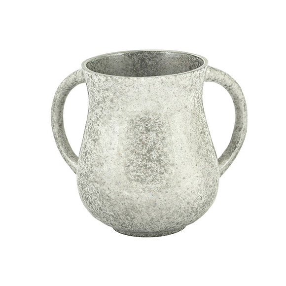 Small Netilat Yadayim Cup - Marble Coated - Silver