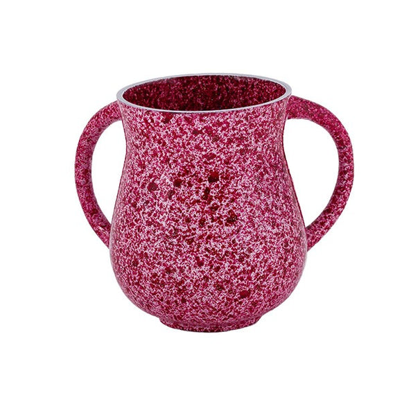Small Netilat Yadayim Cup - Marble Coated - Pink