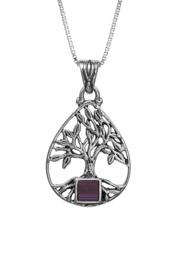 Nano Sim OB Silver Pendant Tree of Life with Drop Frame - The Peace Of God