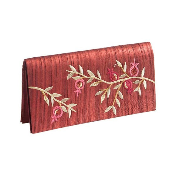 Evening Bag & Embroidery Maroon