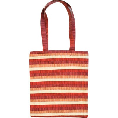 Bag - Stripes - Maroon