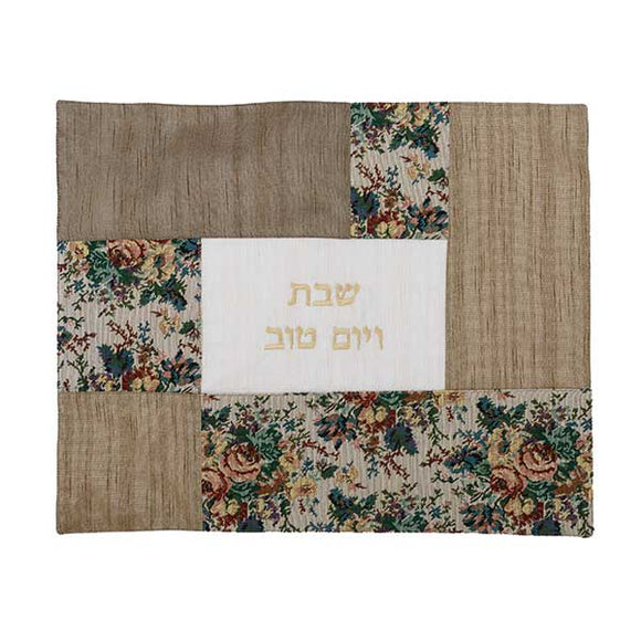 Challah Cover - Fabric Collage - Tapestry Flowers