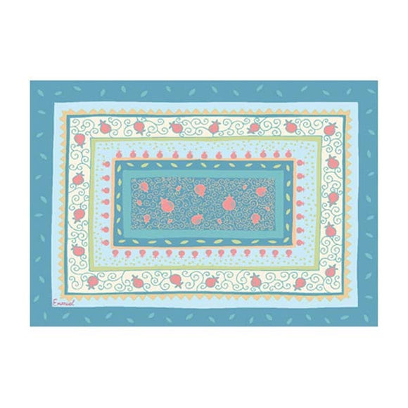 Printed Placemat - Light Blue