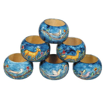 Napkin Rings - Set Of 6 - Oriental