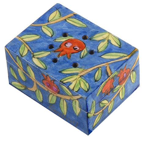 Spice Box - Hand Painted - Pomegranates