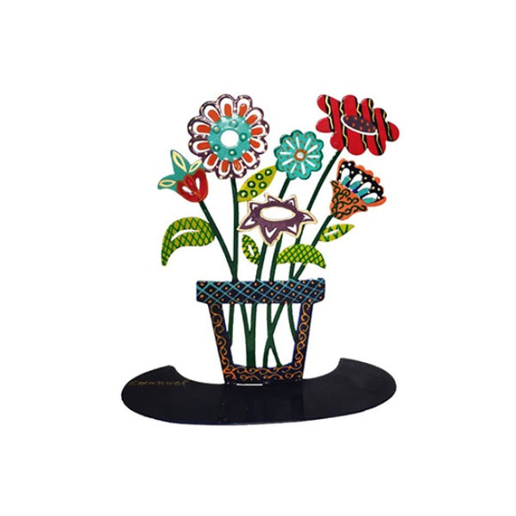 Stand - Large - Hand Painted - Flowers