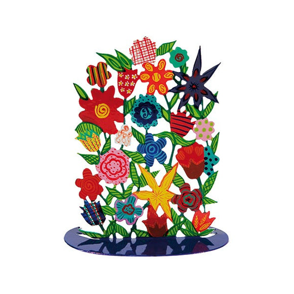 Metal Laser Cut Stand - Hand Painted - Flowers