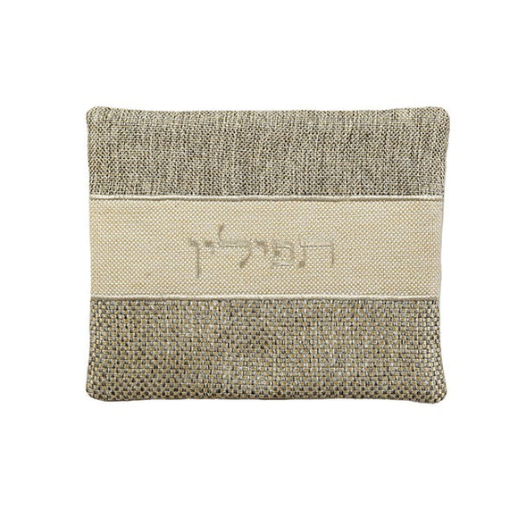 Tefillin Bag - Thick Materials - Black Linen