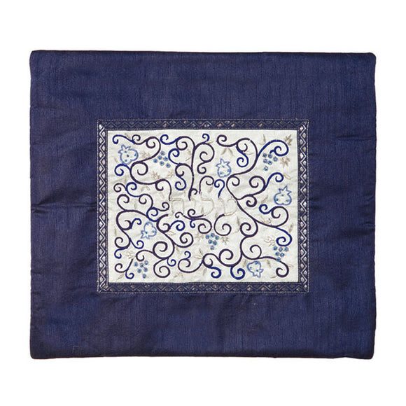 Tallit Bag - Middle Embroidery - Blue & White