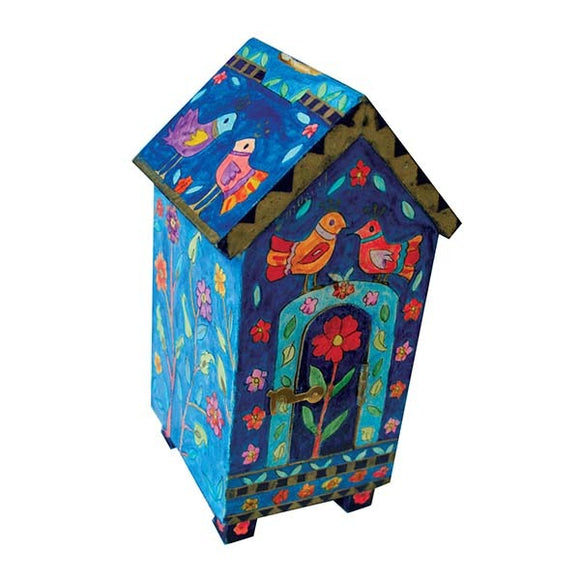 Tzedakah Box - House Shape - Birds