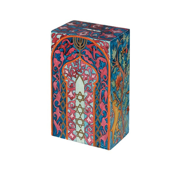 Rectangular Tzedakah Box - Tree Of Life