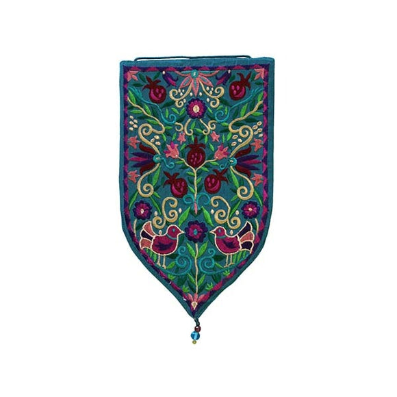 Wall Hanging - Special Shape - Large Pomegranates Blue