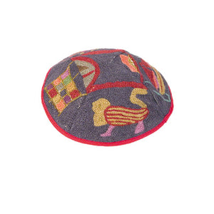 Kippah Hand Embroidered - Animals