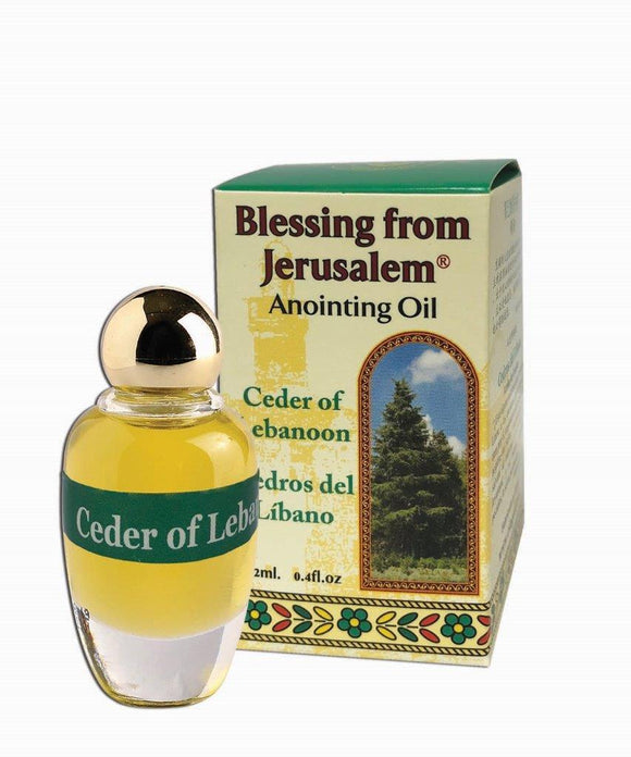 Blessing From Jerusalem Anointing Oil - Cedar of Lebanon 12 ml - The Peace Of God