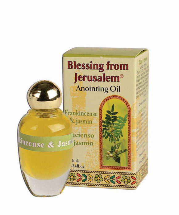 Blessing From Jerusalem Anointing Oil - Frankincese and Jasmin 12 ml - The Peace Of God