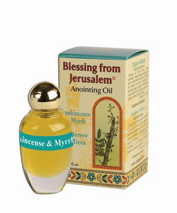 Blessing From Jerusalem Anointing Oil - Frankincese and Myrrh 12 ml - The Peace Of God