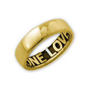 14K Gold English Hidden Print Personalized Ring