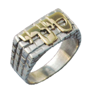 Sterling Silver Ring with Pure Gold Letters Kotel Hebrew Personalized Ring
