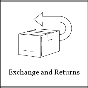 exchange and returns button