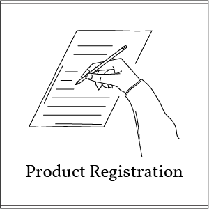 product registration button